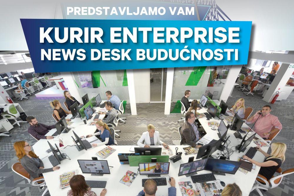 Adria Media Group lansira KURIR ENTERPRISE, News Desk Budućnosti