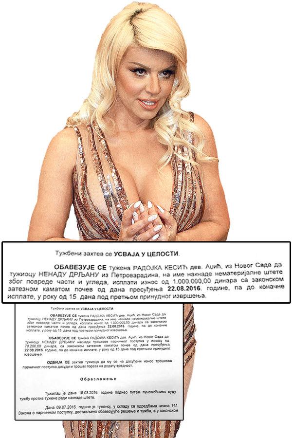 Dara Bubamara,  Nenad Drljan,  kum,  porno-fotografije,  snimci,  tužba ,spor, gola dara, porno slike, estrada