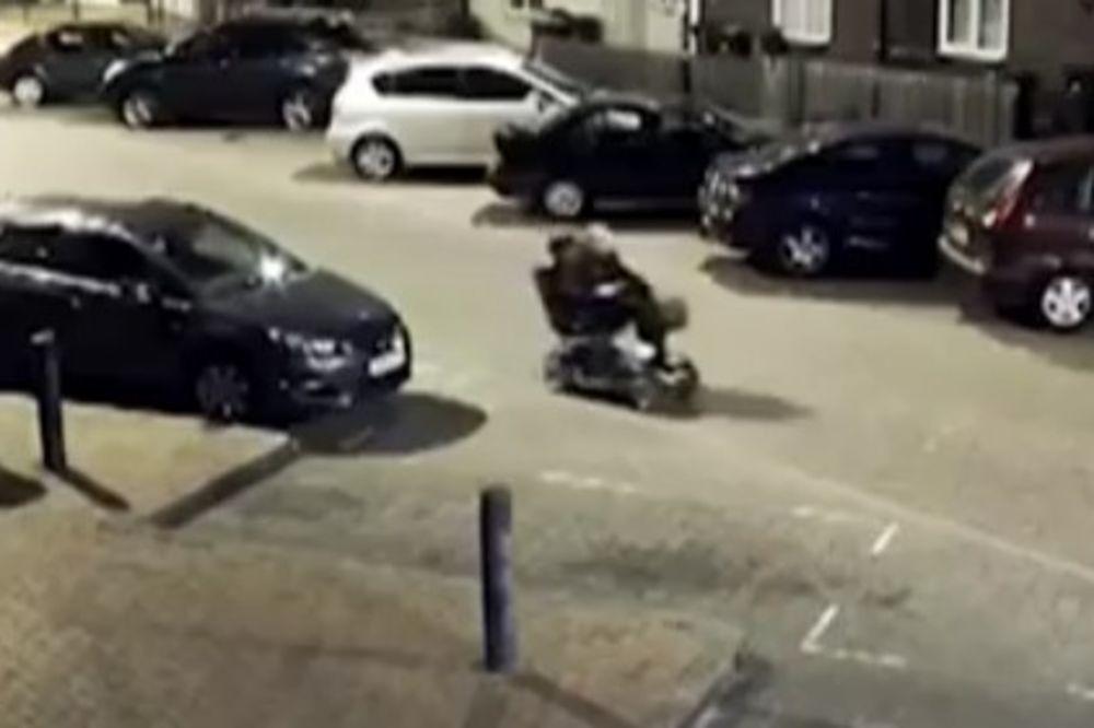 (VIDEO) OVI LOPOVI SU NAJLUĐI NA SVETU: Ukrali kasu pa krenuli da beže invalidskim skuterom