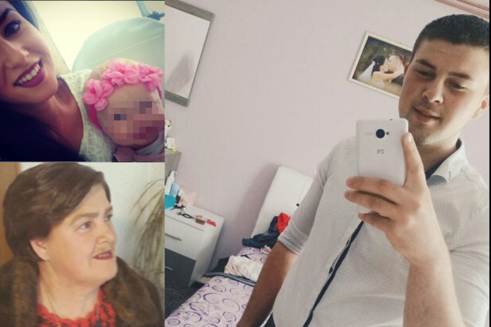 Olivera sa ćerkicom, majkom i bratom
