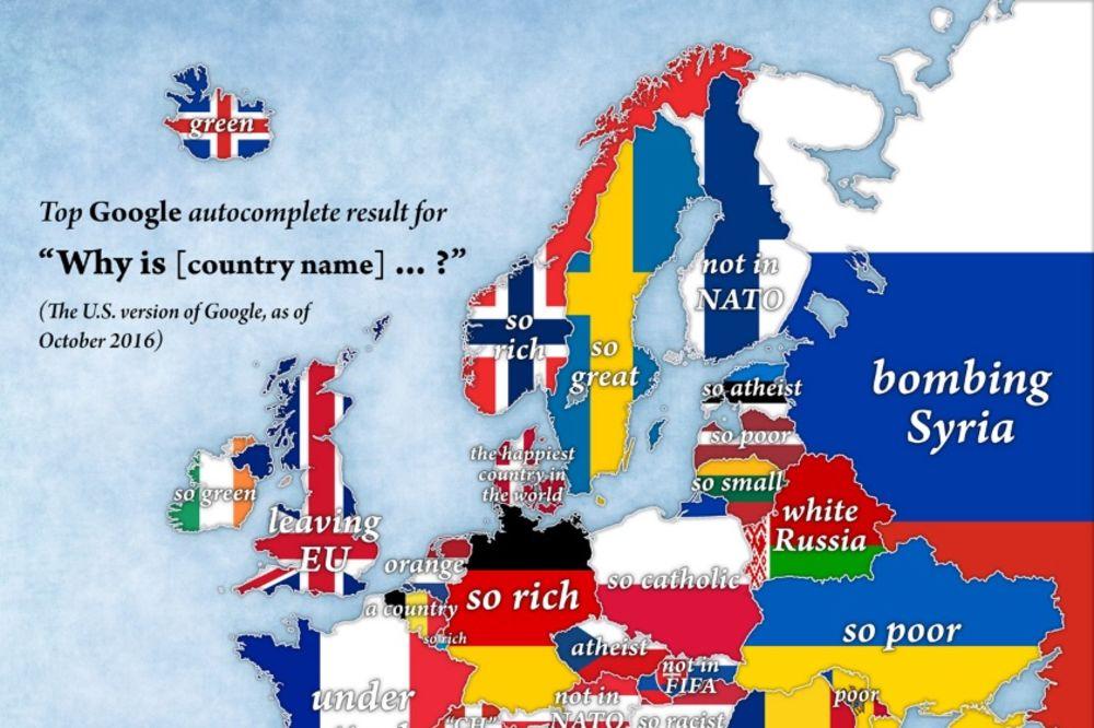 Stereotipi Ova Mapa Pokazuje Po Cemu Su Evropske Zemlje