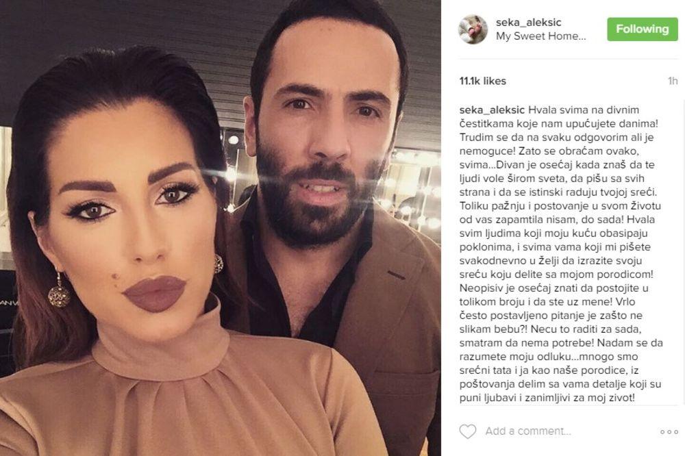 (FOTO) SVI JE TO PITAJU: Seka objasnila ZAŠTO neće da objavi fotografiju svog sina!