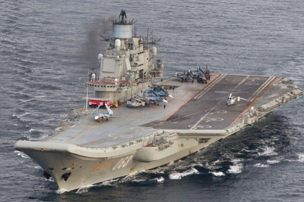 Nosač Admiral Kuznecov Foto printscreen twitt
