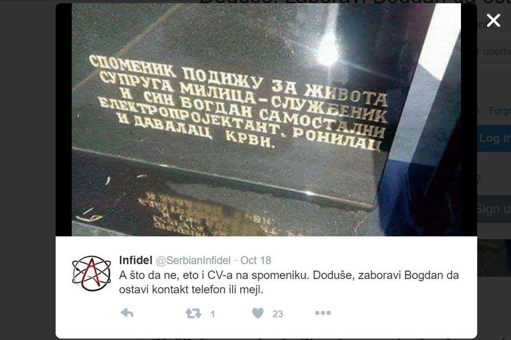 (FOTO) CV NA NADGROBNOM SPOMENIKU: Ima ih svakakvih, ali ovakav u Srbiji još niste videli