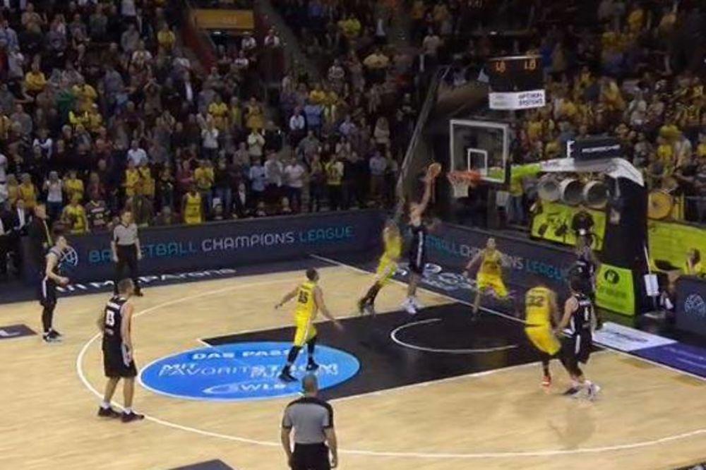 GROBARI SU ČEKALI BAŠ OVO: Pogledajte koš Birčevića za prvu pobedu Partizana u FIBA ligi šampiona
