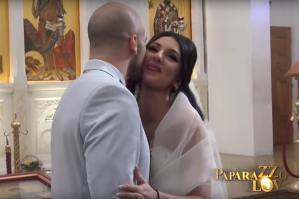 (VIDEO) STIDLJIVO: Bane Janković poljubio suprugu 3 puta u obraz nakon što su se venčali!