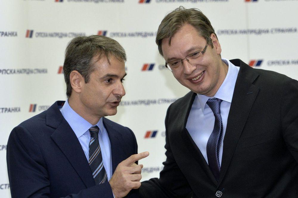 VUČIĆ SA PRESEDNIKOM GRČKE NOVE DEMOKRATIJE: Hvala na podršci evropskom putu Srbije