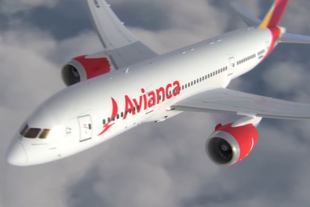 Avianca, avion, Foto: Printscreen YouTube