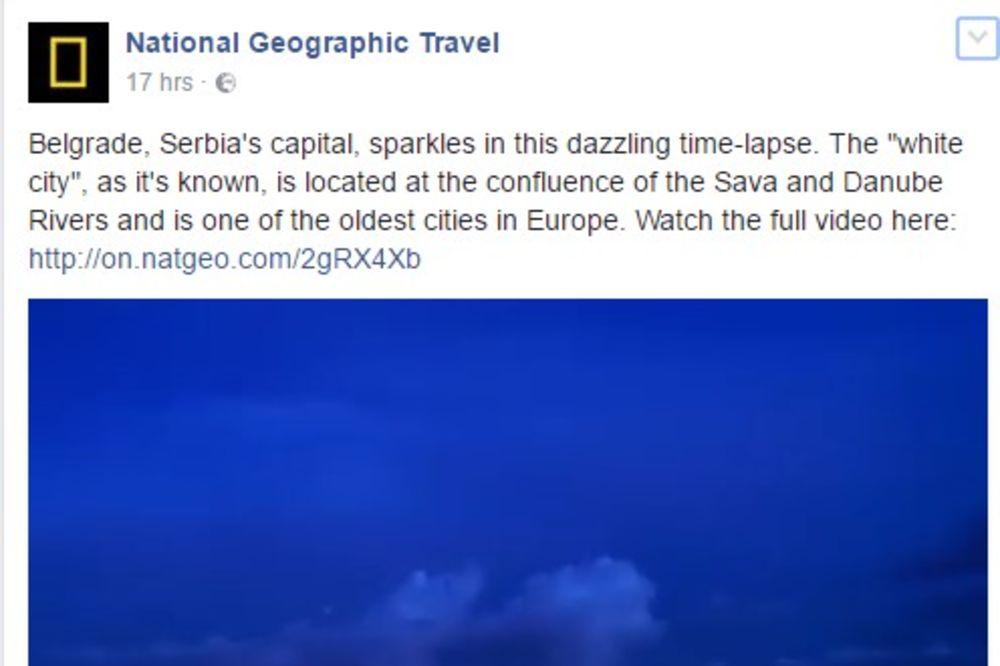 (VIDEO) OD SVITANJA DO SUMRAKA Zadivljujući snimak Beograda na Nešenal džiogrefiku ostavlja bez daha