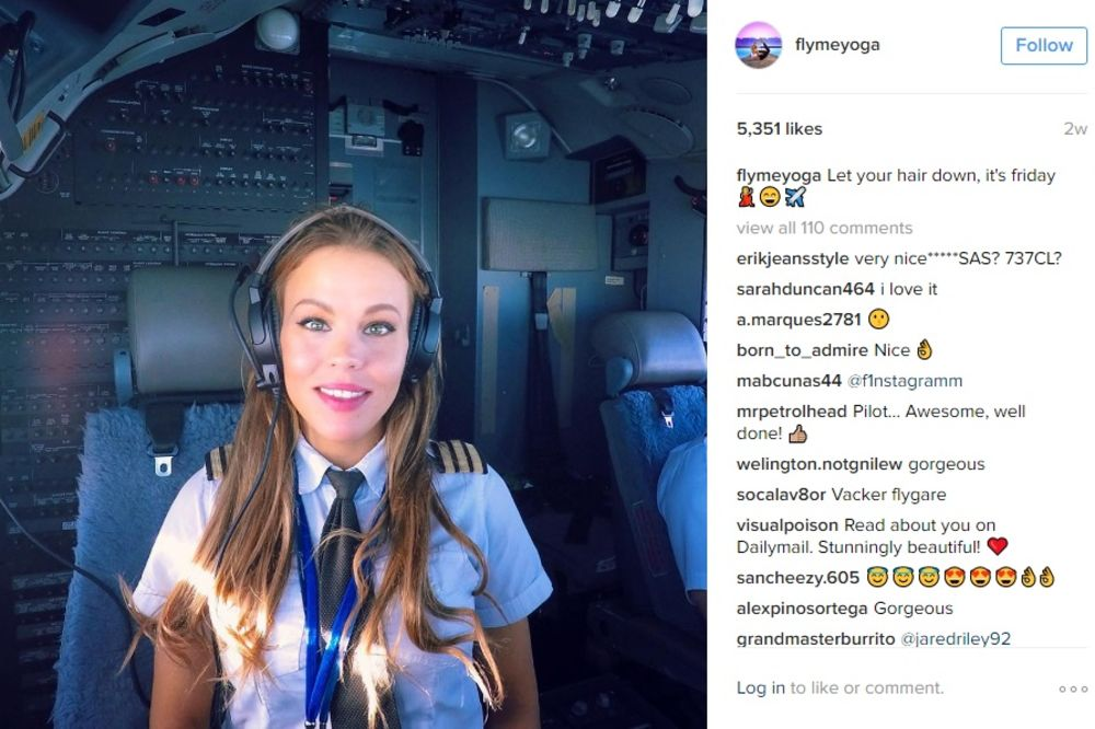 (FOTO) LEPOTICA JEZDI OBLACIMA: Ona pilotira avionom, radi jogu i nova je internet senzacija