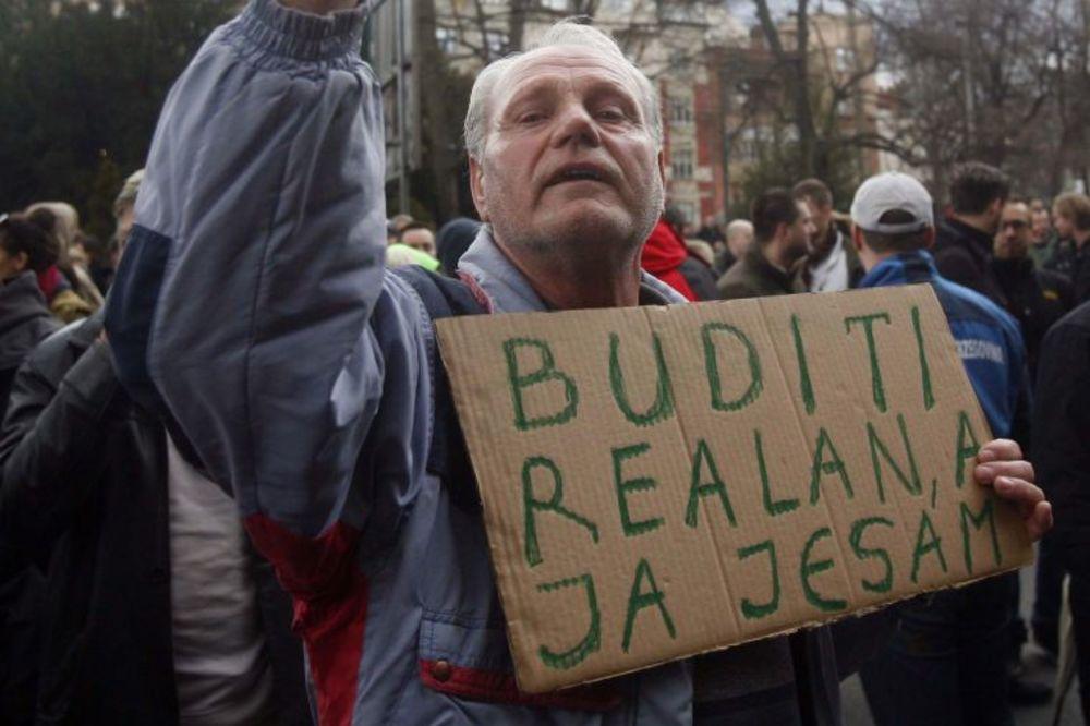 Foto: Protest građana BiH zbog loše ekonomske situacije, Foto: Aleksandar Jovanović