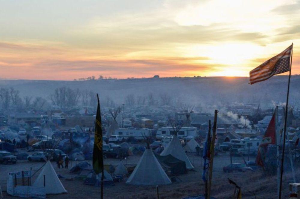 Foto: Reuters, Montažno naselje demonstranata protiv naftovoda u Severnoj Dakoti