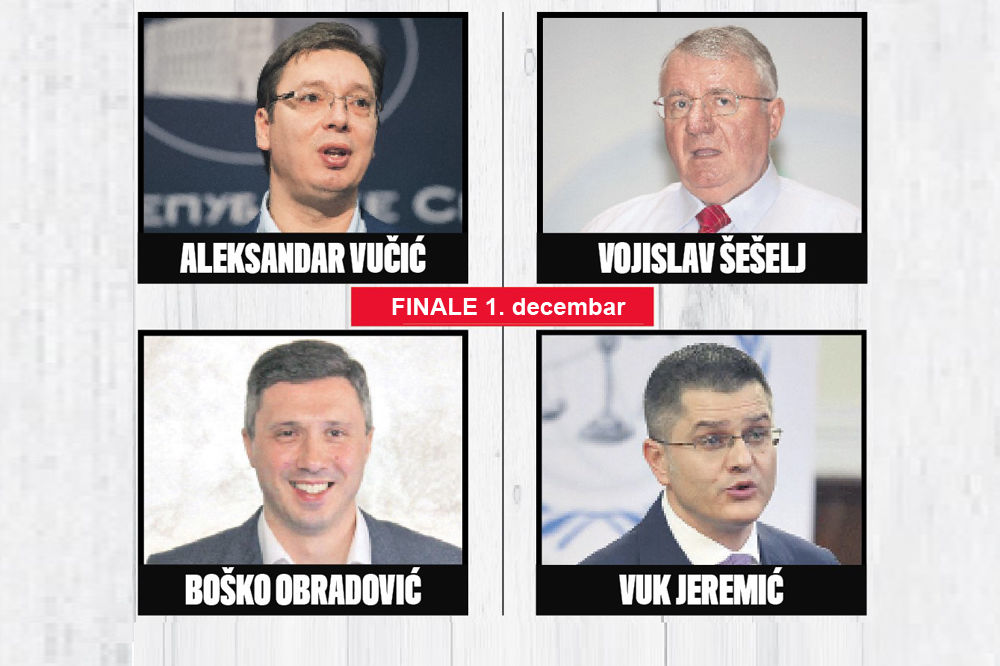 KURIROVI PREDSEDNIČKI IZBORI: U četvrtak finale, u ponedeljak SUPERFINALE I PROGLAŠENJE POBEDNIKA