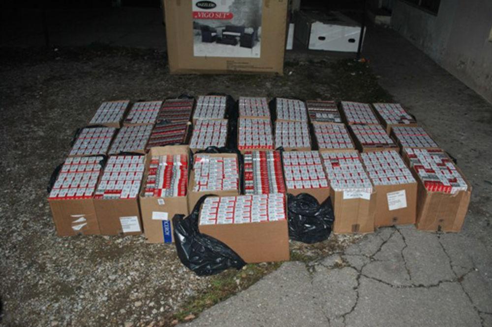 ULOV VREDAN 6,5 MILIONA DINARA: Zaplenjeno 24.000 paklica cigareta