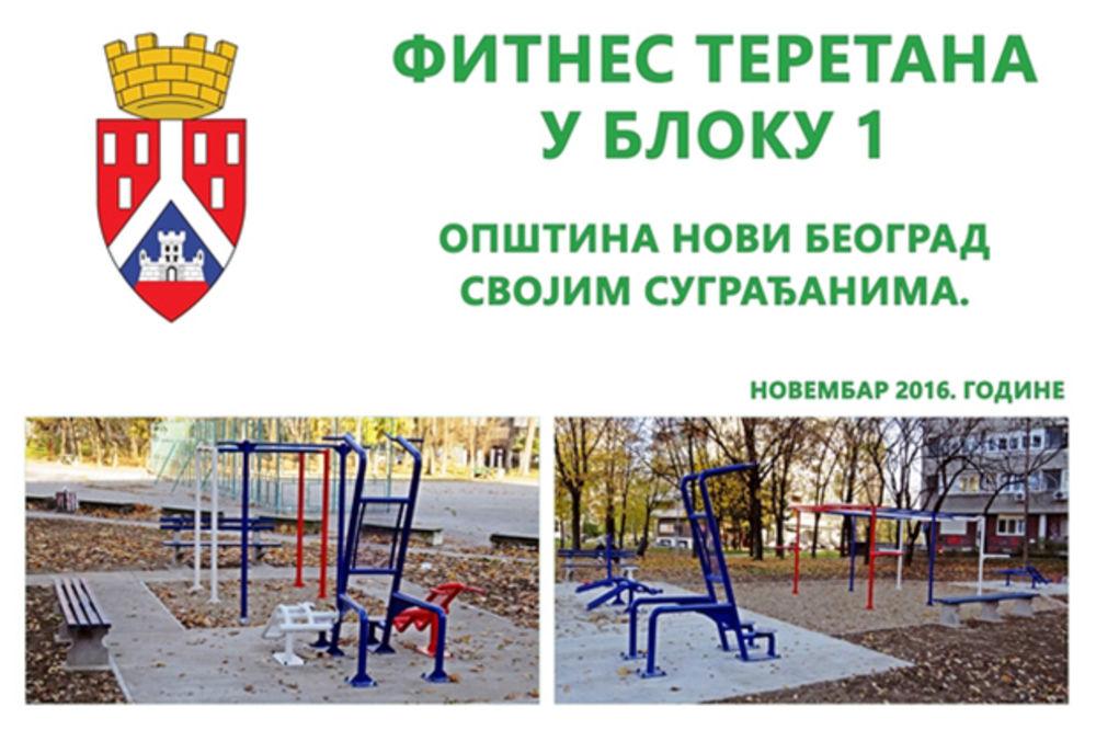 Opština Novi Beograd - Otvaranje teretane na otvorenom u Bloku 1