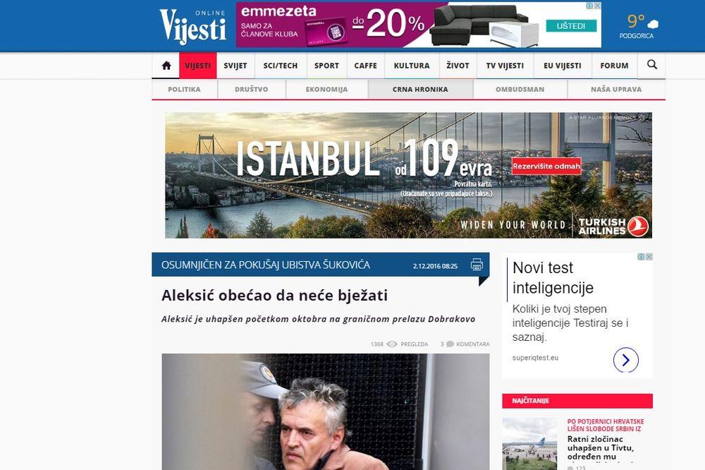 OBEĆAO DA NEĆE BEŽATI: Viši sud u Podgorici razmišlja da pusti Radovana Aleksića iz pritvora