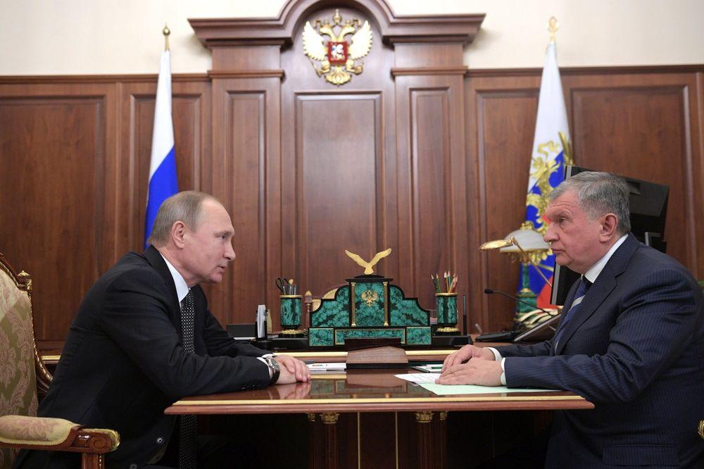 Vladimir Putin i Igor Sečin, Foto: Reuters