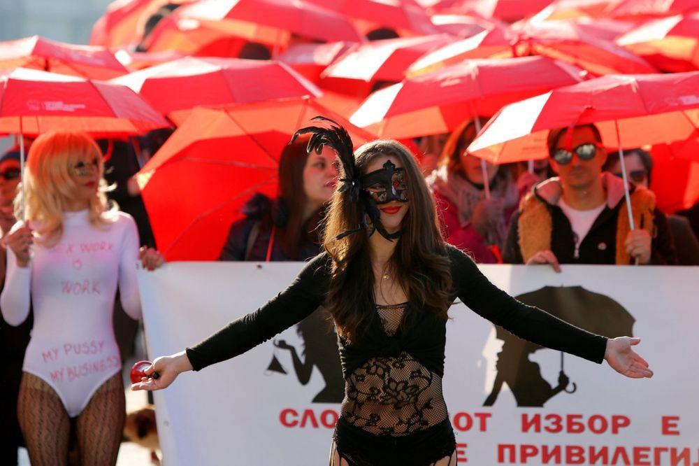 В Македонии прошел митинг работников секс-индустрии