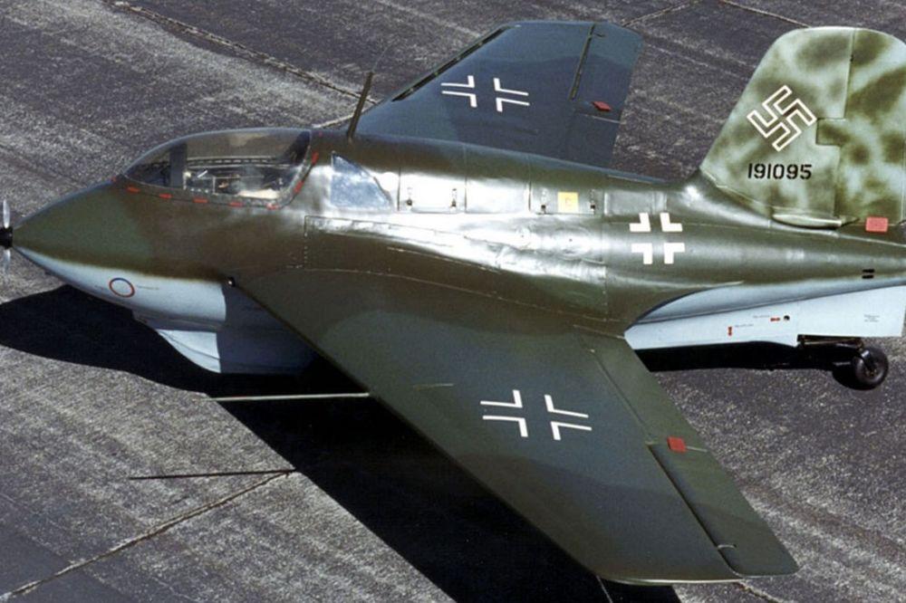 Avion na raketni pogon Meseršmit Me 163 (foto: Wikipedia)