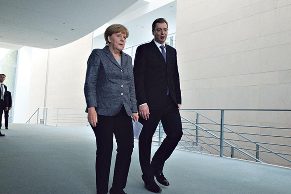 Angela Merkel i Aleksandar Vučić, Foto: Dado Đilas