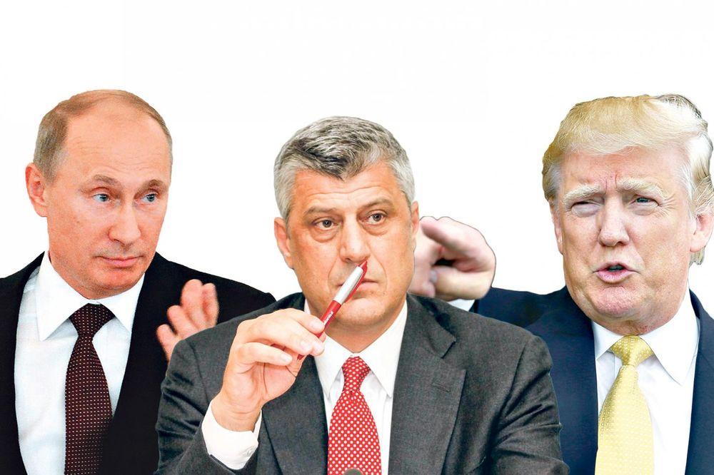 Donald Tramp, Vladimir Putin, Hašim Tači, foto Fonet, Beta, AP