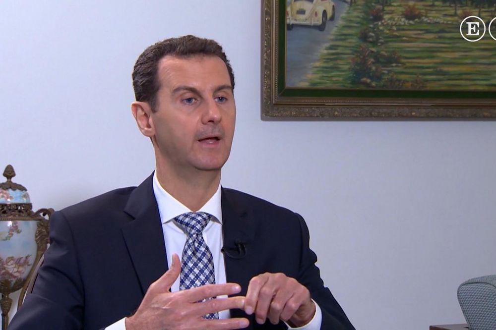 RADIKAL KOD ASADA: Penzionisani general i član SRS Božidar Delić kod predsednika Sirije