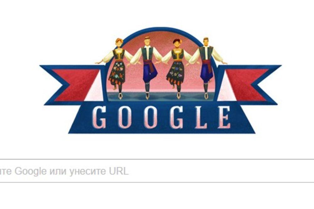 GUGL SRBIJI ČESTITAO SRETENJE: Srpsko kolo vije se na stranici globalnog internet pretraživača