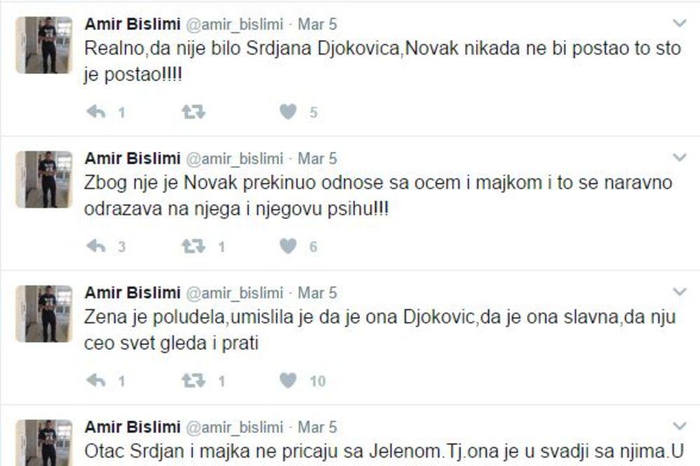 Amir Bislimi, Novak Đoković, Foto: Tviter