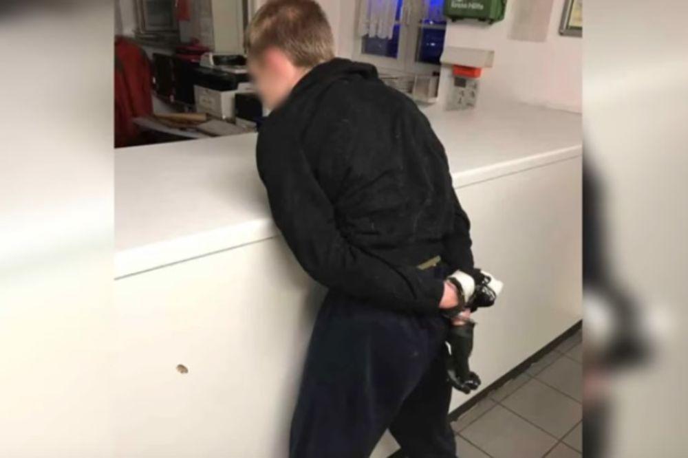 Marsel Hese posle hapšenja (Foto printscreen youtube)