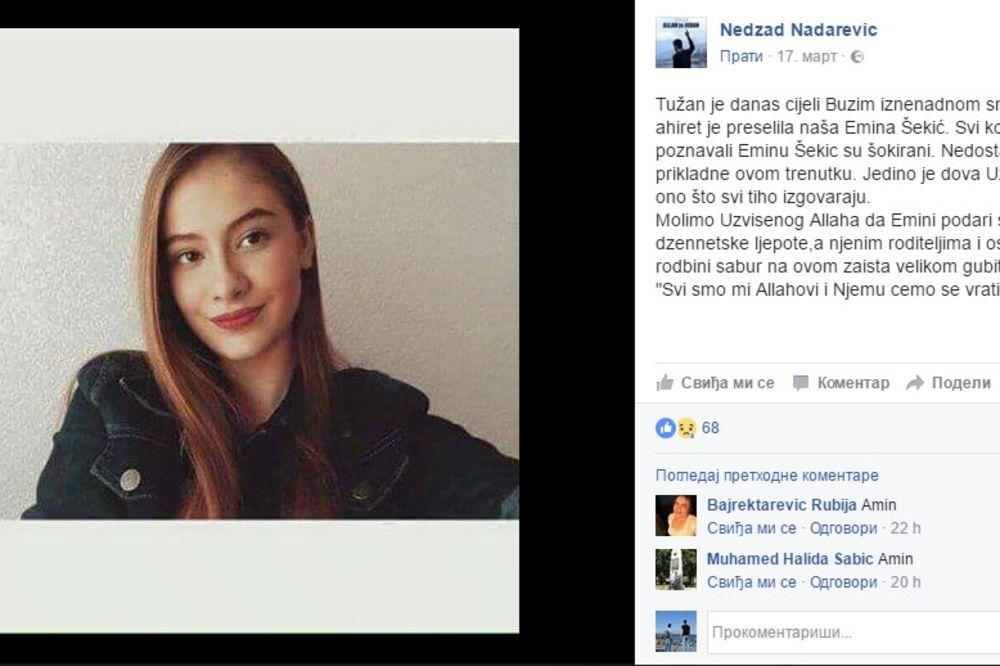 PRERANA SMRT TINEJDŽERKE POTRESLA REGION: Na hiljade ljudi ispratilo Eminu, poruka brata SLAMA SRCE!
