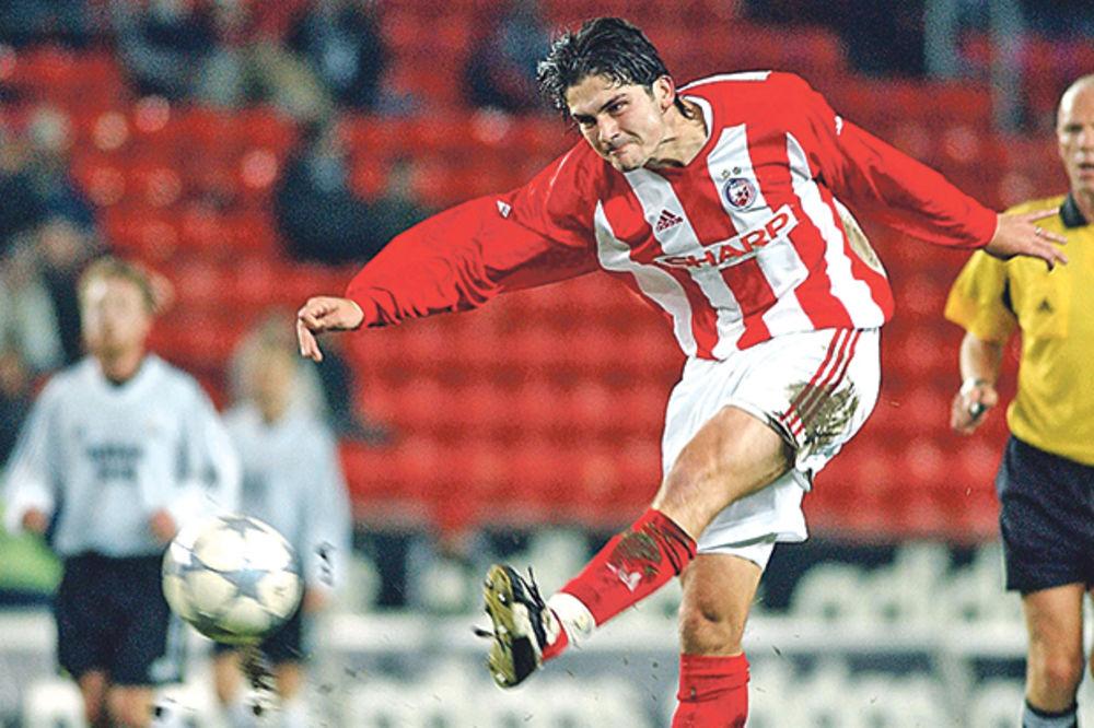 Žali što nije ostao duže u Zvezdi... Đorđić u sezoni 2003-2004. protiv Odensea