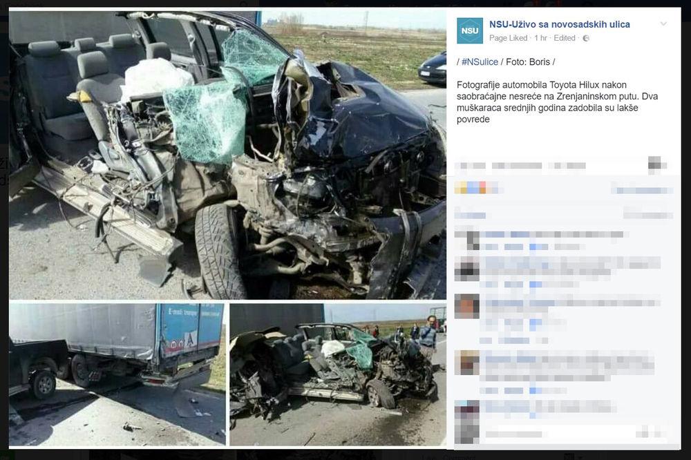 (FOTO) LUDOM SREĆOM ŽIVI KOD ZRENJANINA: Pogledajte šta je ostalo od automobila nalik tenku!