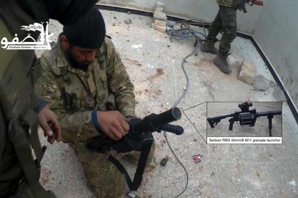 SKANDALOZNO: Srpski bacač granata RBG M11 u rukama mudžahedina u Siriji?