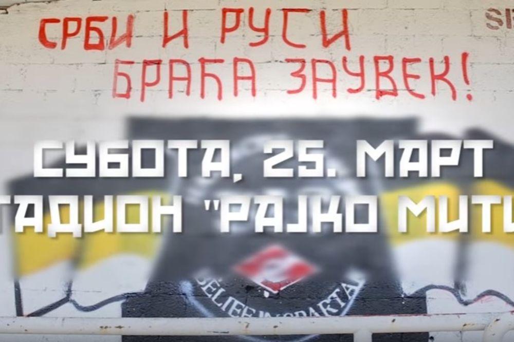(VIDEO) RUSI DOLAZE: Moćna poruka fudbalera Crvene zvezde uoči dolaska braće iz Moskve