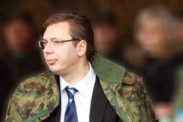 Image result for aleksanda vucic u uniformi vojske srbije