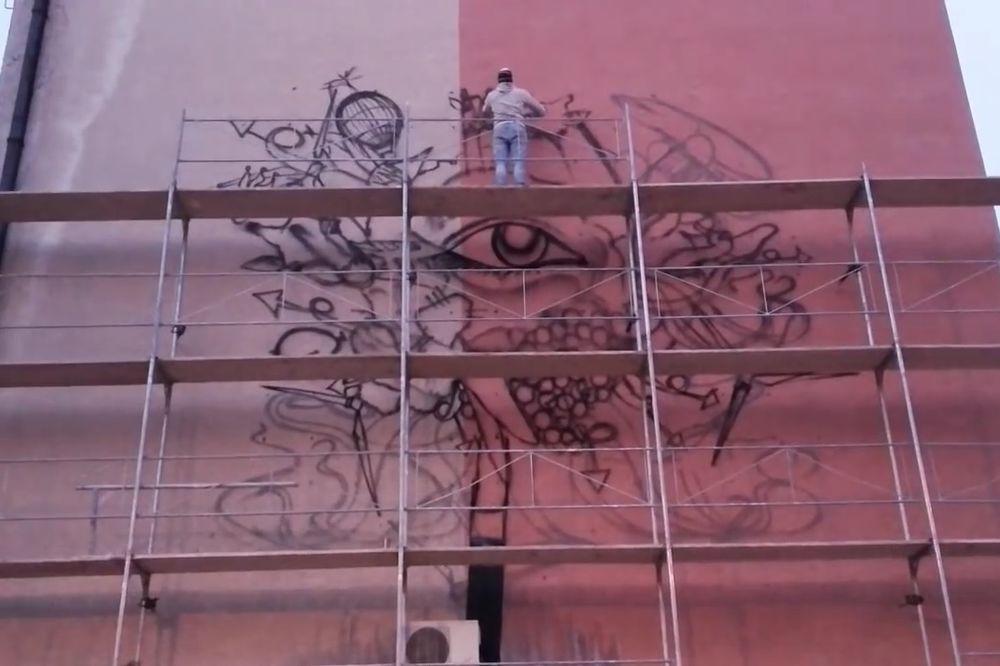 Video umetnost otpora slavni pijanista poklonio for Mural u vukovarskoj ulici