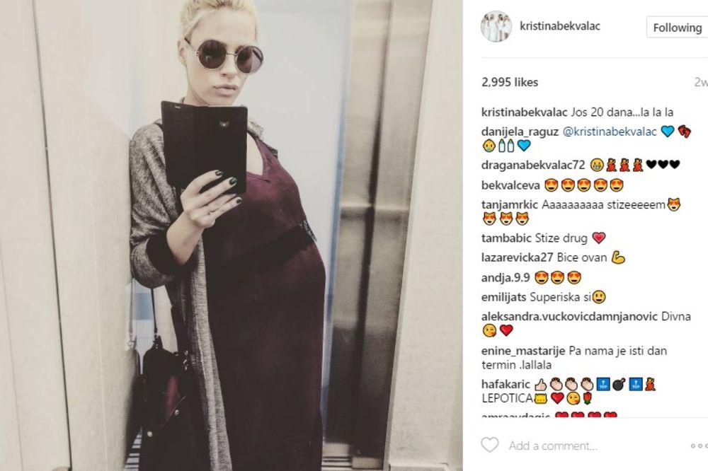 (FOTO) STIŽE SIN: Kristina Bekvalac primljena u porodilište