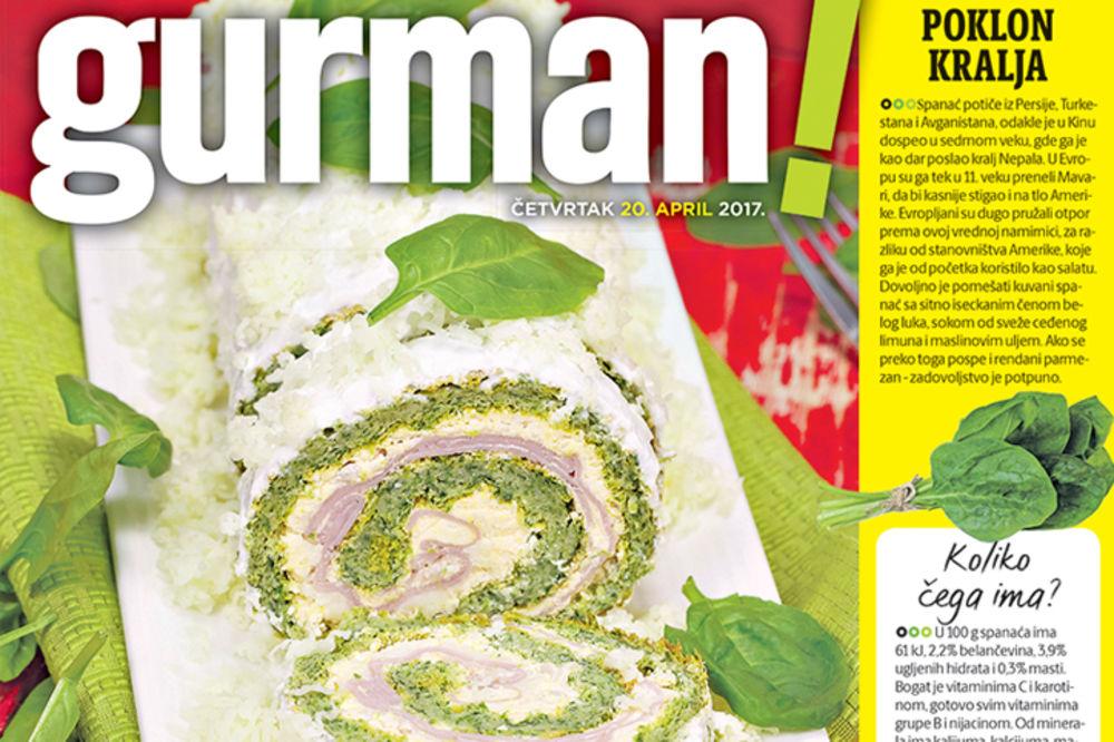 DANAS U KURIRU: Zelena snaga spanaća