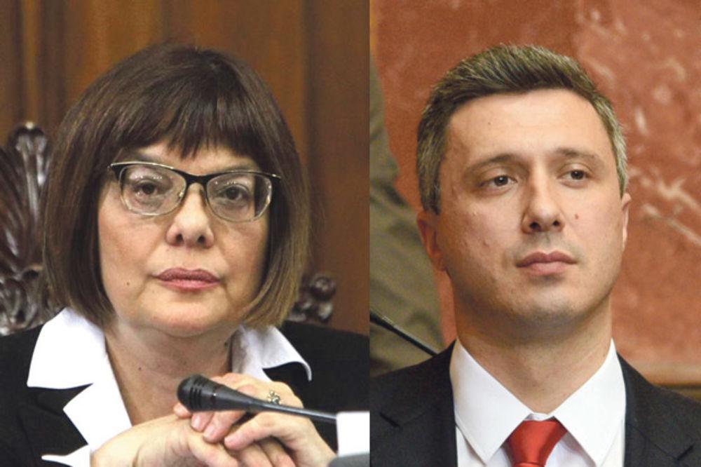 SVAĐE I RASPRAVE U SKUPŠTINI: Gojkovićeva: Boško, ne dam da me mobinguješ
