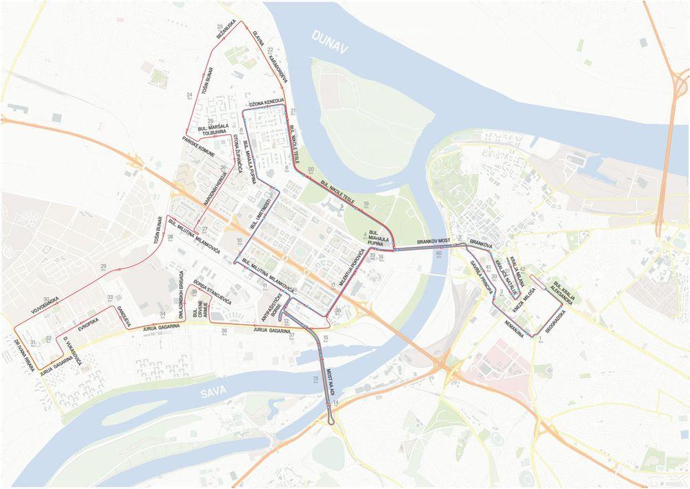 Mapa Maraton Zatvara Centar I Novi Beograd Ovim Ulicama Danas