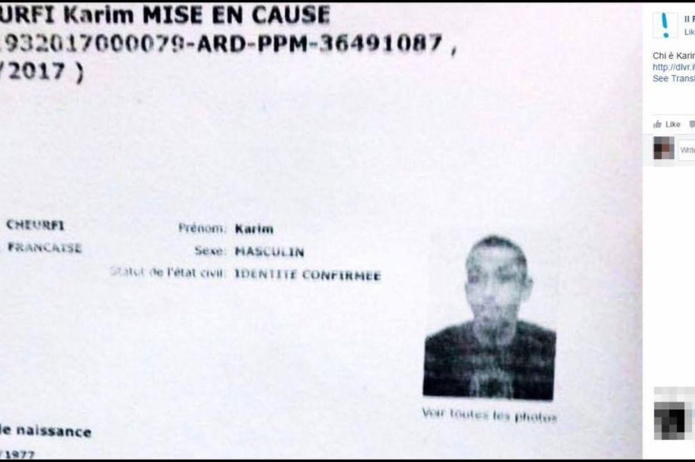 OVO JE LICE KRVNIKA IZ PARIZA: Francuska policija otkrila identitet napadača s Jelisejskih polja