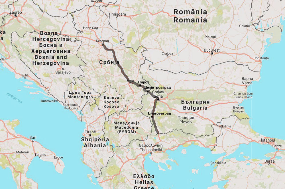 auto karta srbije makedonije i grcke MAPA) AKO OVAJ HAOS U MAKEDONIJI NE STANE Evo kako ćemo na leto u  auto karta srbije makedonije i grcke