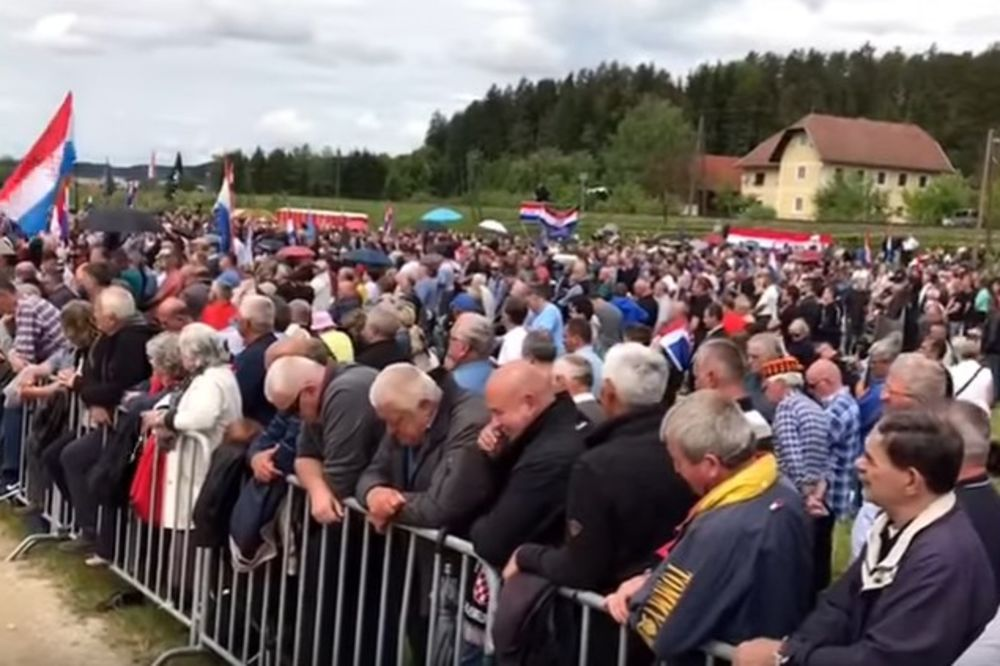 SKANDALOZNI SKUP U BLAJBURGU: Uhapšen muškarac zbog ustaške kape, napadnut i hrvatski POLICAJAC