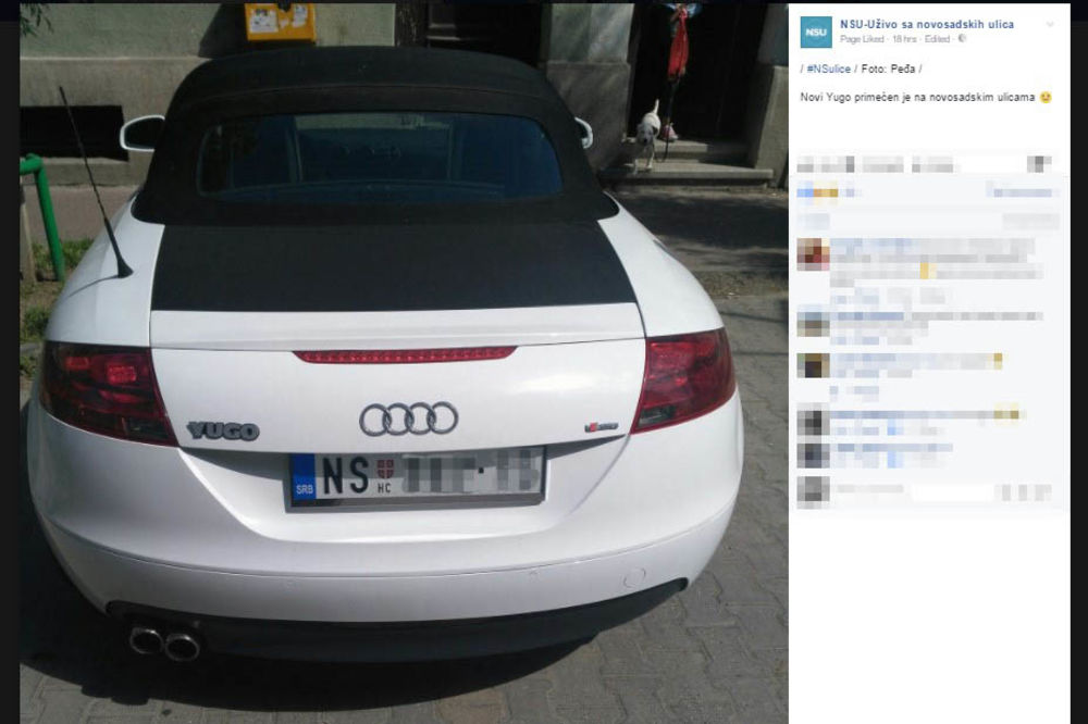 (FOTO) ONO KAD JUGO AVANZUJE: Ovaj auto izaziva ŠOK i ZABUNU na novosadskim ulicama