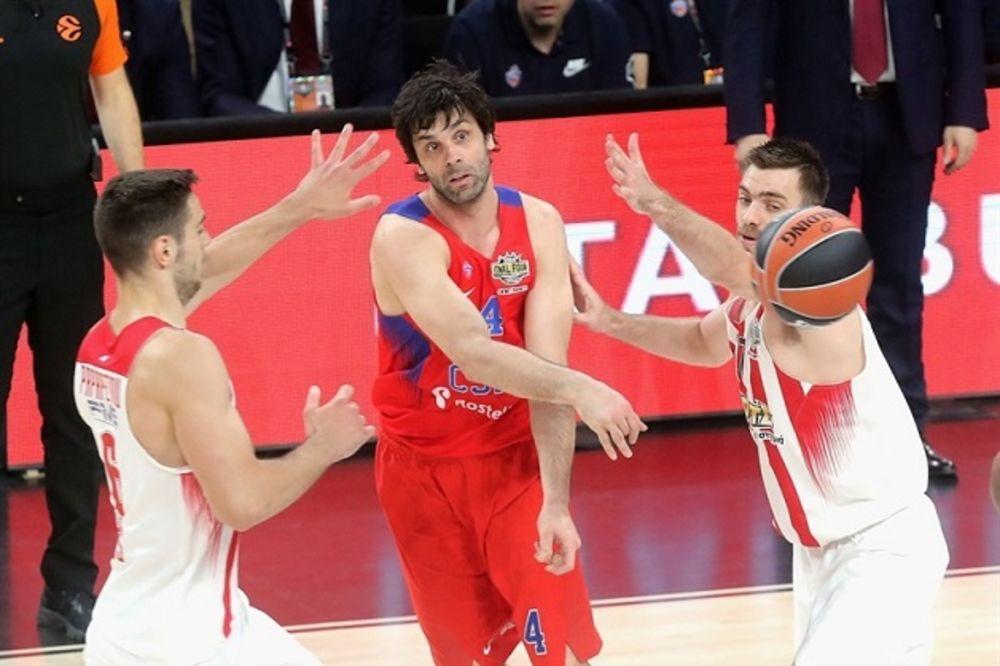 TEODOSIĆ PROMAŠIO FINALE: Olimpijakos posle drame skinuo krunu CSKA u Istanbulu