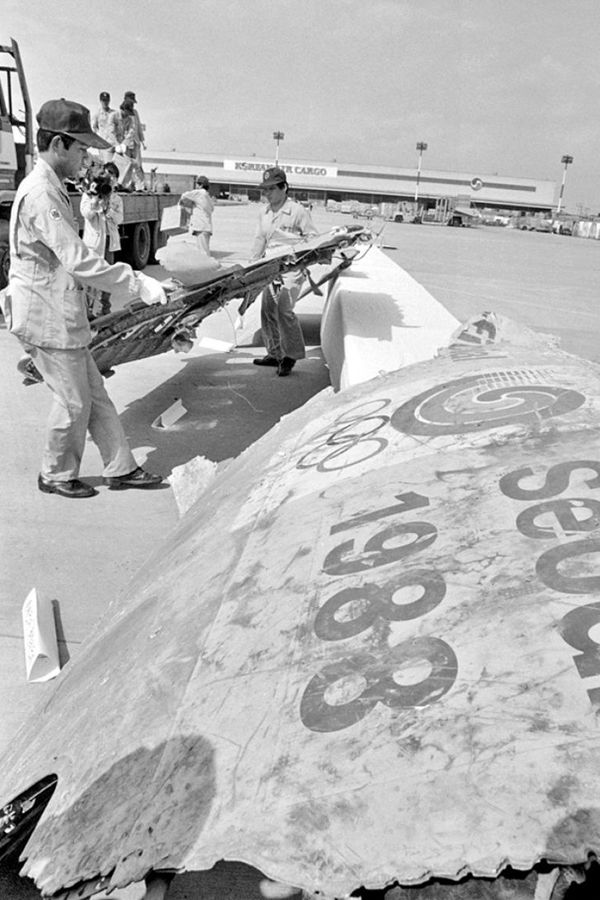 Foto: Posledice napada na avion kompanije KAL 1987. godine; Izvor: Privatna arhiva