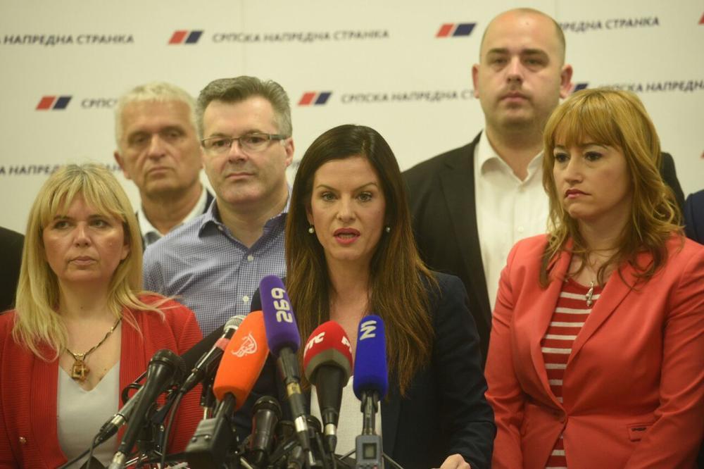 POTPREDSEDNICA SNS POSLE SASTANKA STRANKE Obradović: Ako ne dobijemo podršku za Brnabić, idemo na nove izbore!