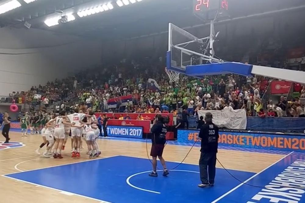 (KURIR TV) DA SE ZNA KO JE ŠAMPION: Evo kako su naše košarkašice proslavile plasman u osminu finala EP