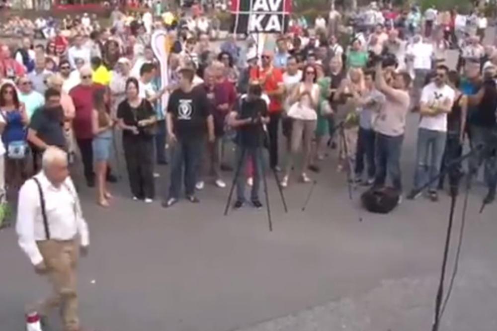 KURIR TV PROTIV DIKTATURE I PROTIV INAUGURACIJE: Građani se okupili i održali protest