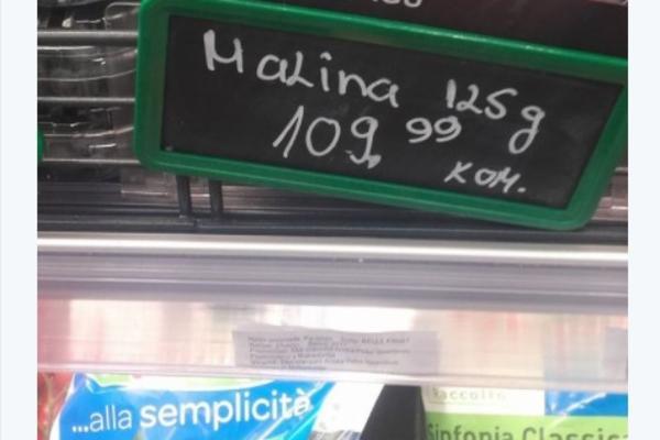 OVA FOTOGRAFIJA IZ PRODAVNICE OBJAŠNJAVA ZAŠTO SU MALINARI BESNI: Cena ovog voća šokirala!